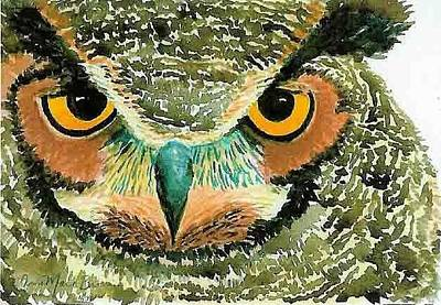 Painting - Hoot Owl by Anne Marie Brown