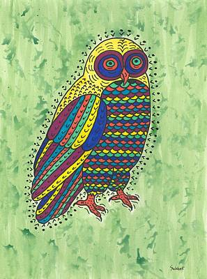 Art Print featuring the painting Hoot Owl by Susie Weber