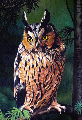 Painting - Hoot Owl by Vivien Rhyan
