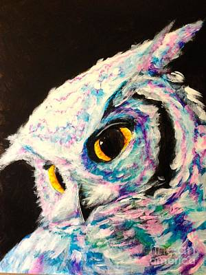 Hoot Art Print by Rachel  Jones