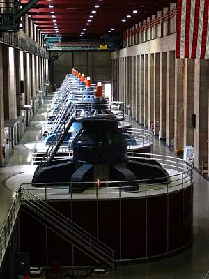 Photograph - Hoover Dam Generator Room by Keith Stokes