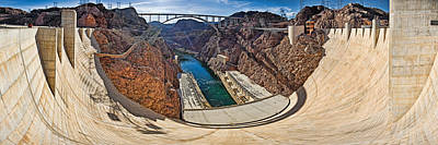 Hoover Dam Photograph - Hoover Dam, Lake Mead, Arizona-nevada by Panoramic Images