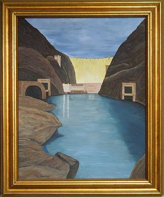 Painting - Hoover Dam by Ron Davidson