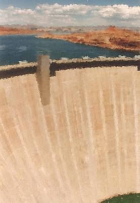 Digital Art - Hoover Dam Seen From Hoover Dam Bridge_painting by Asbjorn Lonvig
