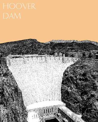 Dam Digital Art - Hoover Dam - Wheat by DB Artist