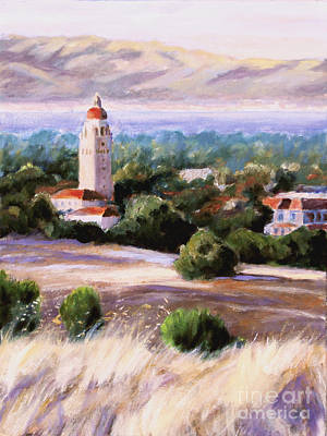 Stanford University Painting - Hoover Tower 1 Stanford University by Catherine Moore