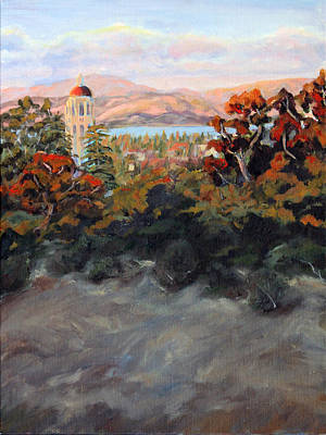 Stanford University Painting - Hoover Tower 2 Stanford University by Catherine Moore