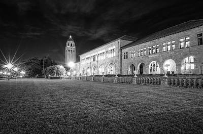 Stanford University Photograph - Hoover Tower Stanford University Monochrome by Scott McGuire
