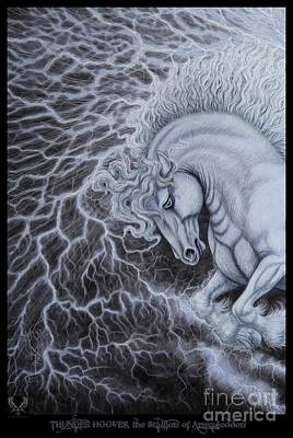 Revelation Drawing - Hooves Of Thunder The Stallion Of Armageddon  by Dale Crum