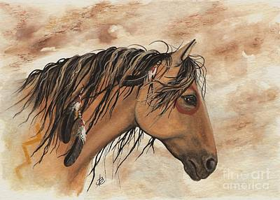 Tri Color Horse Painting - Hopa - Majestic Mustang Series by AmyLyn Bihrle
