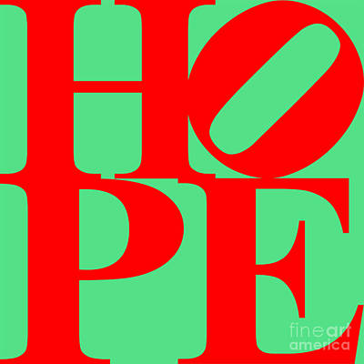 Hope 20130710 Red Green Art Print by Wingsdomain Art and Photography