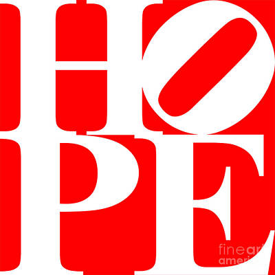 Hope 20130710 White Red Art Print