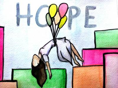 Hope Afloat  Art Print by Kiara Reynolds