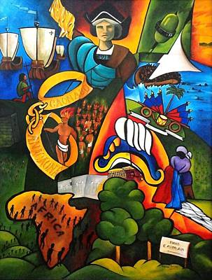 Taino Painting - Hope At Sunrise by Patricia Brintle