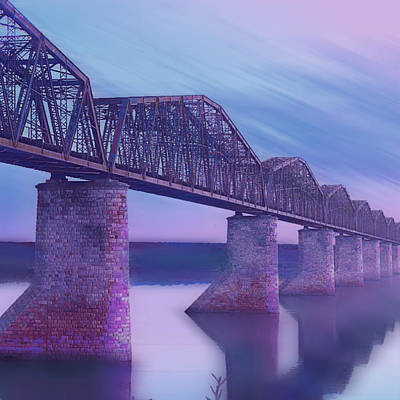Hope Bridge Soft Art Print by Tony Rubino