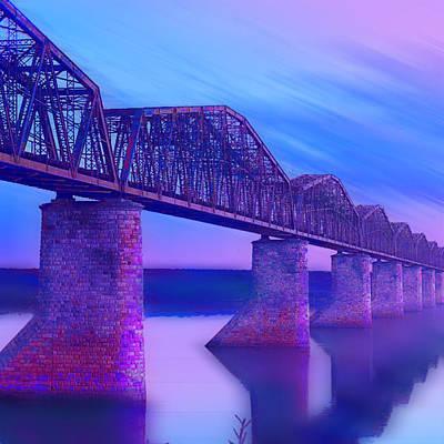 Action Lines Painting - Hope Bridge by Tony Rubino