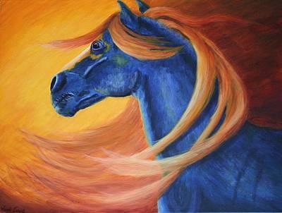 Peruvian Horse Painting - Hope Calling by Wendi Matson