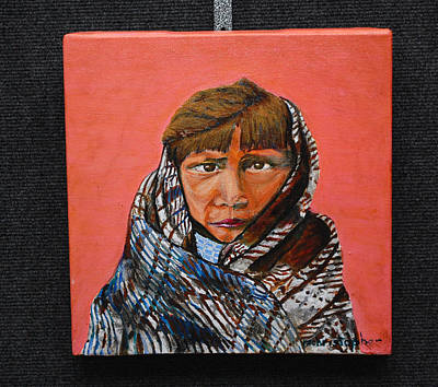 Navajo Children Painting - Hope Child by Mark Smith