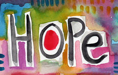 Prayer Wall Art - Painting - Hope- Colorful Abstract Painting by Linda Woods