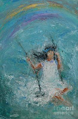 Young Girl On A Swing Painting - Hope by Dan Campbell