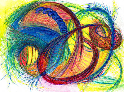 Modern Abstract Drawing - Hope Fills The Holes by Kelly K H B