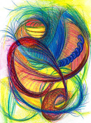 Drawing - Hope Fills The Holes- Vertical by Kelly K H B