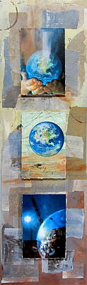 Planet Earth Mixed Media - Hope For Humanity by Anita Burgermeister