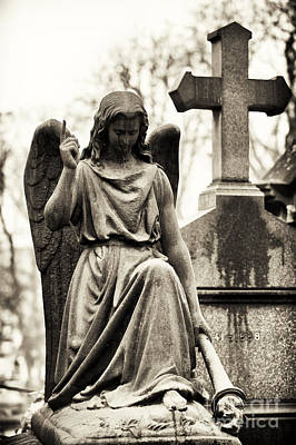 Cemeteries Of Paris Photograph - Hope From Above by John Rizzuto