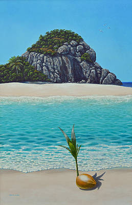 Painting - Hope Germinating Coconut by David Clode