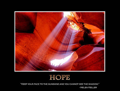 Path In Life Photograph - Hope - Helen Keller by Gregory Ballos