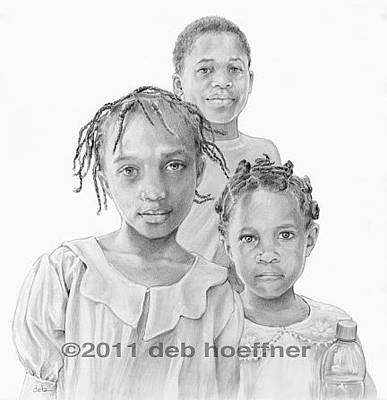 Haitian Drawing - Hope In Haiti by Deb Hoeffner