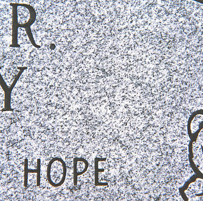 Speckled Granite Photograph - Hope by Jenny Forker