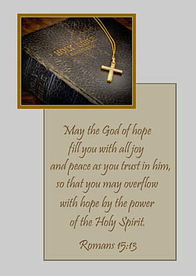 Photograph - Hope Joy And Peace by David and Carol Kelly