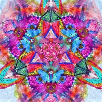Kaleidescope Digital Art - Hope Kaleidescope by Cassandra Donnelly
