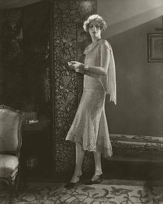 Livermore Photograph - Hope Livermore Wearing A Chanel Dress by Edward Steichen