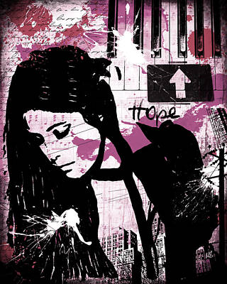 Artist Digital Art - Hope Pink by Melissa Smith