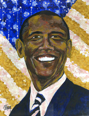 Barack Obama Painting - Hope by Stan Kwong