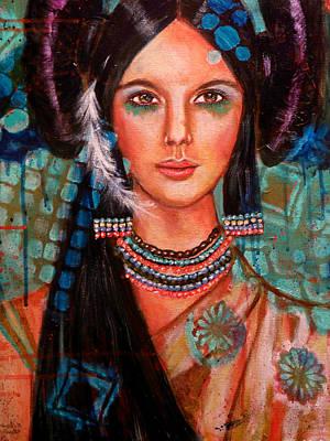 Hopi Indian Painting - Hope Waits by Kimberly Van Rossum