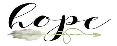Hope Painting - Hope With Arrow by Tara Moss