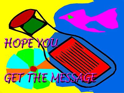 T- Ball Painting - Hope You Get The Message by Patrick J Murphy