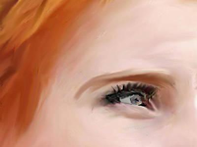 Portrait Study Mixed Media - Hopeful by Dennis Buckman