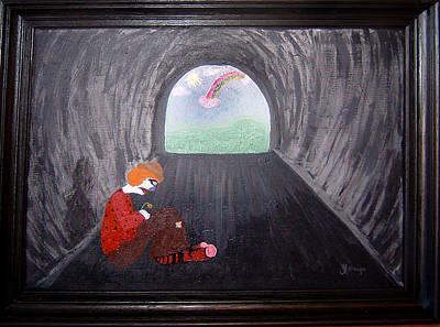 Hopeless Hobo Art Print by Yvonne  Kroupa