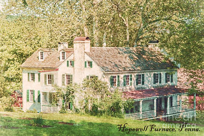 Postcards Photograph - Hopewell Furnace In Pennsylvania by Olivier Le Queinec