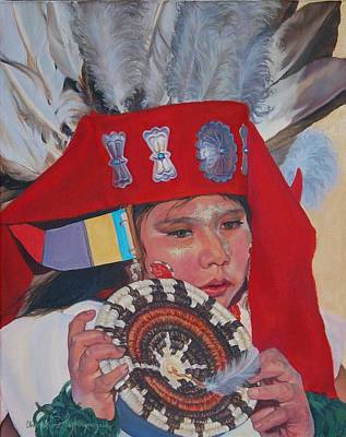 Painting - Hopi Basket Dancer by Christine Lytwynczuk
