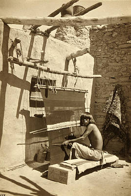 Hopi Blanket Maker, C. 1899 Art Print by Getty Research Institute