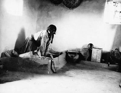 Hopi Bread Maker, C1912 Art Print by Granger