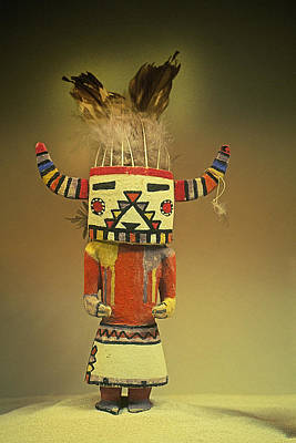 Artist Working Photograph - Hopi Katchina Doll II by Buddy Mays