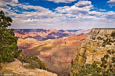 Digital Art - Hopi Point Grand Canyon by Bob and Nadine Johnston