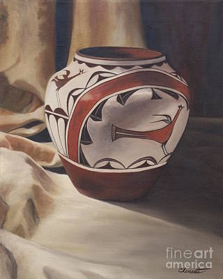 Painting - Hopi Pottery by Barbara Barber