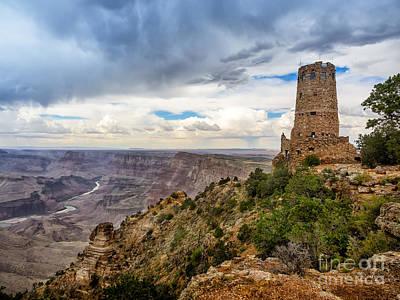 Hopi Watch Tower At Grand Canyon South Rim Arizona Art Print by Frank Bach